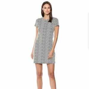 Calvin Klein Black Cream Shift Work Dress Size 4